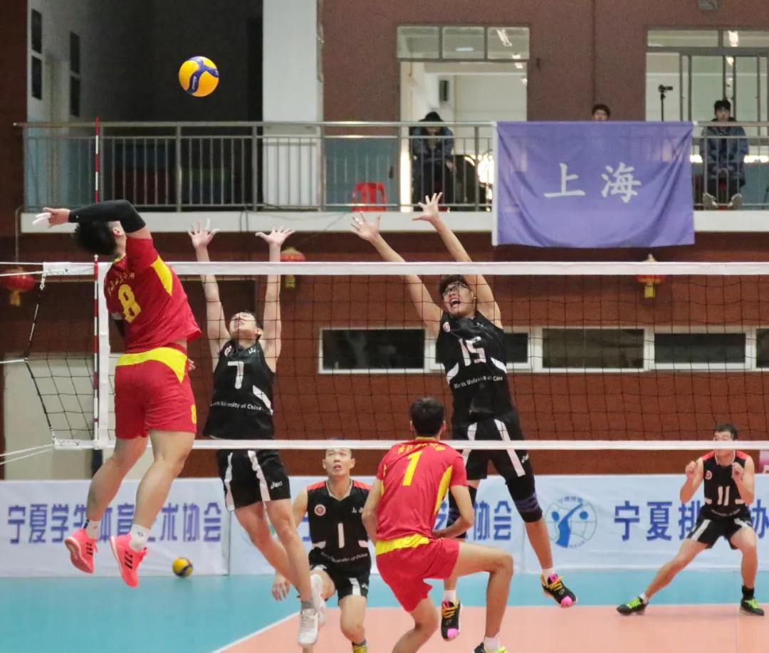 中华人民共和国第十四届学生运动会排球预赛(大学男子组)在宁夏开幕